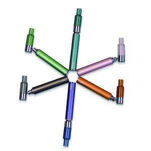 Komodo Nuovo WeaTank-X Kit 280mAh Cartuccia batteria di vetro piena 0,3 ml 0,5 ml ceramica riscaldamento Heavy Metal Testato cartuccia riutilizzabile
