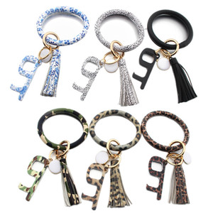 Bracelet Touchless Key Chain No Touch Elevator Door Hook Opener Contactless Bracelet Acrylic Key Ring Accessory Party Favor Gift LJJP228