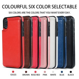 Applicable to Apple iPhone X classic crazy horse material left and right to open multi-function mobile phone case iPhone8 leather case