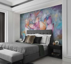 Custom Any Size 3D wall papers home decor European-style hand-painted oil painting colorful butterflies Wallpaper Fresco Living Room