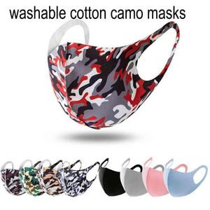 Máscaras Primavera 3D máscara camo Designer Camouflage lavável respirável Rosto máscara de luxo sunproof Dustproof Cycling Sports Boca cobertura para Unisex