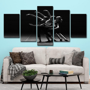 Black and White Ballet Dancing Girls Modern Canvas Painting Movie Poster HD Print Wall Art Pictures for Living Room Decoration Home Decor