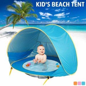 Baby Beach Tent Children Waterproof Up sun Awning Tent UV-protecting Sunshelter with Pool Kid Outdoor Camping Sunshade Beach