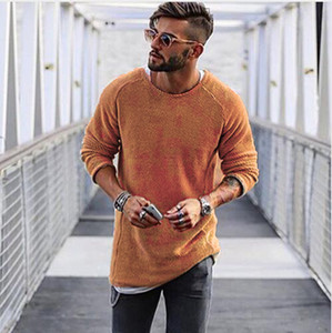 Fashion Solid Color Mens Sweaters 2020 New Arrival Casual Mens Designer Sweater Hoodie High Quality Streetwear Men Tops Clothing Size S-XL