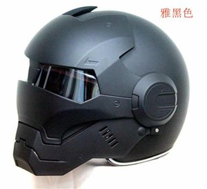 capacete da motocicleta segurança pessoal elevador homem face capacete de ferro transformador completo de proteção