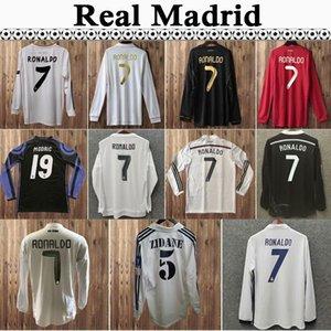 01 07 Real Madrid Seedorf Raul Zidane Mens Retro Casa Away Soccer Jerseys 2011-2018 Ronaldo Kaka 'Sergio Ramos Camicia da calcio manica lunga