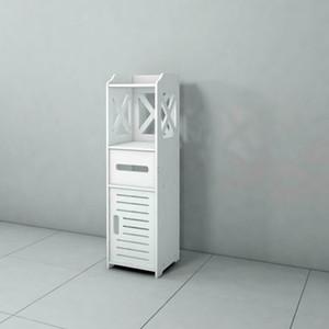 Banyo Kat Kabine Solo Tek Kapı 2-Tier Depolama Organizatör Beyaz