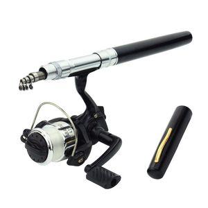 Hot! Mini Spinning Pocket Fish Pen Aluminum Alloy Fishing Rod Pole Reel pesca Wholesale Children fishing rods gift fishing rod