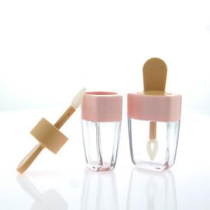 5ml Novo design Lip Glaze garrafa vazia batom shell lindo sorvete lábio vazio tubo de gloss enchimento de garrafas vazias local cosméticos Livre Shiping