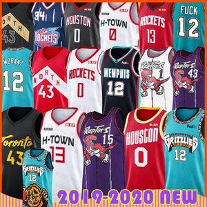 12 Ja Morant Formalar James Vince Harden Carter Jersey Russell 0 Pascal Hakeem Siakam Olajuwon'dı Tracy McGrady Marcus Camby Basketball Westbrook