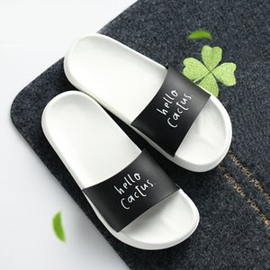 Fashion Summer Slippers Thick Soled Slides Platform Beach Sandals Black White Women Shoes Flip Flops Zapatillas Mujer Y200624
