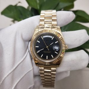 High Quality Asian Watch 2813 Automatic Mechanical Men's Watch 228238 Model 40mm Black Dial 18k Gold Stainless Steel Strap Sapphire Glass