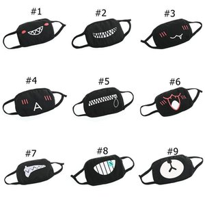 Mask Dust Cotton Mask Face Bear Teeth Print Funny Emoji Designer Washable Adult Women Men Mouth Mask Part