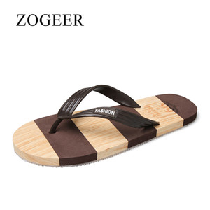 Slippers Men, 2020 Breathable Summer Flip Flops Mens, New Fashion Casual Outside Comfortable Men's Beach Slippers, ZOGEER Brand