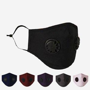 Face Masks With Double Breathing Valve Earloop Dustproof PM2.5 Mask Adjustable Reusable Anti-Dust Fog Designer Masks With Filters RRA3384