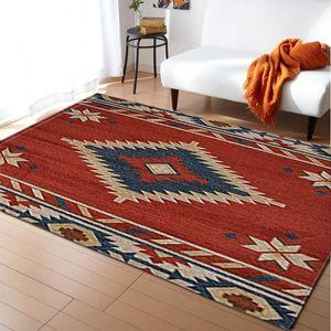 Nordic Bohemia Nacional Estilo Tapete flanela macia Quarto Sofa Table Mat marroquina Decoração Tapete e tapete para sala