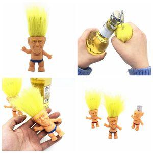 8cm Trump Troll Doll Multifunction Dolls Bottle Opener Mini Doll Troll Toys Figure Briefs Doll Party Gifts YYA191