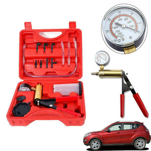 Hand Held Vacuum Pressure Pump Tester Set Brake Fluid Bleeder Bleeding Kit + Box