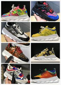 Versace Shoes 2019 Ch ain 2 Reaktion Turnschuhe Männer Herren-Schuhe Frauen der Frauen-Sport-Trainer beiläufige Art und Weise Schuh-Turnschuhe