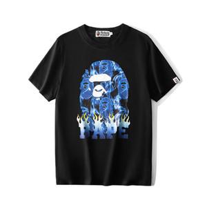 Bape Designer T shirt dos homens do macaco bape Designer T Shirt Hip Homens Mulheres Alta Qualidade Hop Tee M-2XL