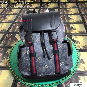 Best Quality 2020 GU-CCCI Tiger Print soft premium Canvas Backpack 495563 Size:34*42*16CM