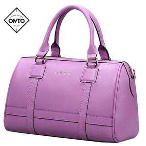 OMTO Brand Women Handbag Shoulder Bags Ladies Split Leather Handbags purse