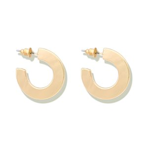 LWONG Gold Sliver Color Open Round Circle Hoop Earrings For Women Simple Fashion Chic Earrings Minimalist Geometric