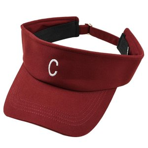 Мужчины Женщина Empty Top Спорт Мода шапка Защита от ультрафиолетовых лучей Открытого Письма вышивки Регулируемого Летних дышащего Sun Hat All-Match