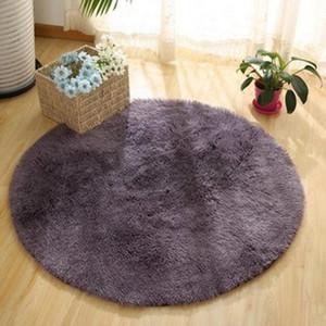 Soft Round Rug Carpets For Living Room Indoor Parlor Rug Bedroom Blue for Bedroom Shaggy Area Modern Mat