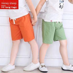 coton et lin enfants Shorts été vêtements pour enfants cheville longueur de plage et des pantalons pantalons pantalons de plage écourtée garçons des filles