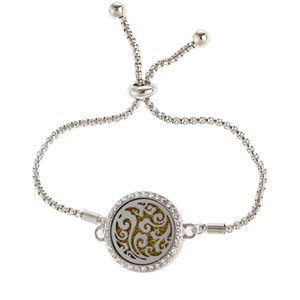 Bracelet aromathérapie Parfum réglable Charm Bracelets Vente chaude diffuseur d'huiles essentielles Bracelet cristal Bracelet magnétique Médaillon