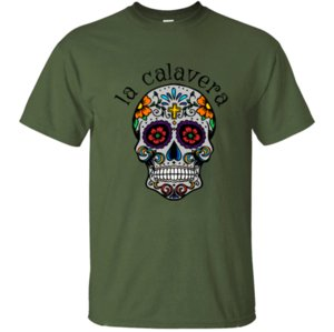 New Calavera Sugar Skull Mexican Culture Day Of Dead T-Shirt For Men 2020 Fashion Men T Shirt Humorous Vintage Hiphop