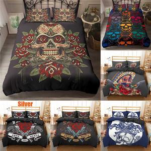 Boniu Bedding Set Duvet Cover Pillowcases 3D Skull Twin Queen King Size Beddings Polyester Bed Cover Dropship