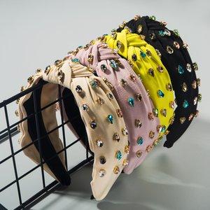 Barock-Knoten-Frauen-Haar-Bänder Luxuxkristallglas Hauptbänder für Dame Girls Flash-Diamant-Haar-Band-Glitter handgemachte Accessoires