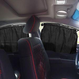 자동차 창 커버 보호 썬 쉐이드 양면 자동 양산 흡입 컵 자동 커튼 안티 UV 드레이프 장식 천 개인 정보 보호 그늘