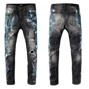 2020ss new high-quality men's jeans famous brand clothing designer long ripped top quality fashion luxury motorcycle jeans men's hot sale