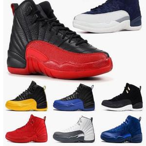 Ücretsiz Çorap Çok renkli spor 40-47 yılan derisi 12 GS kaplan yılan Siyah Kahverengi Kırmızı erkekler basketbol ayakkabıları nesil yeni 12s erkek