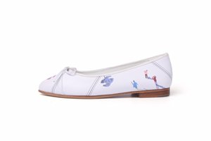 Free DHL 2020 HOT high quality shallow mouth round flat shoes women Genuine Leather bow ballet multicolor large 35-41 Women's Shoes