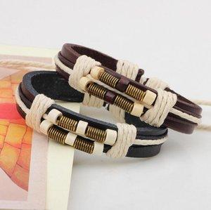 DHL epacket Off-the-shelf personalized bracelet wooden beads bracelet hand-woven bracelet DJFB438 Charm Bracelets jewelry