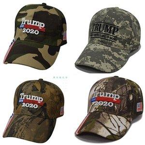Новый Дональд Трамп Cap Камуфляж Keep America Great USA Flag Бейсболки Snapback Hat Вышивка Star Письмо Camo Army Cap DHB828