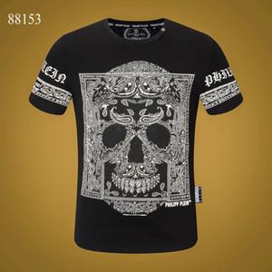 siyah beyaz Kafatası Superme Tee kapalı 20FW Kadınlar Erkek Tasarımcı T Gömlek Lüks Phillip Düz Tişörtlü Yaz Homme Hoodie eşofman 17 Tops