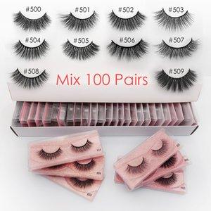 Eyelash wholesale 20 30 40 50 100 pcs faux 3d mink lashes natural false eye lashes makeup wispy mink eyelashes in bulk cilios