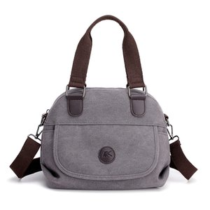 Casual spalla Totes Borsa di LKEEP Women Canvas Bag Borse 3-open Crossbody Messenger