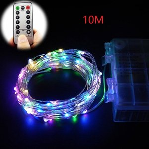 DE Stock 10M 100LED LED Strings with remote Multi Color battery powered string lights for home party decor