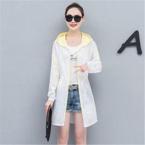 Sun-proof clothes women's long summer new anti-ultraviolet clothing Korean version of the sun-proof shirt thin coat hood HX05525