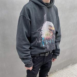 20SS historieta Eagle impresión casual sudaderas con capucha para niños Hombres Mujeres Calle Moda suéter sudaderas con capucha suéter de manga larga HFYMWY377