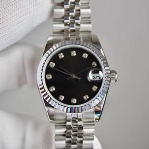 Damenmode-Diamant-Uhr 31mm automatische mechanisch oder Quarz-Batterie-Uhr-Damen ultradünne wasserdichter Stahl Qualitäts-Uhr
