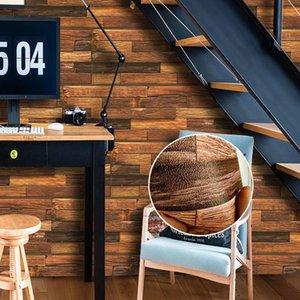 3D الابتدائية اللون الخشب الحبوب الجدار ملصق غرفة المعيشة مطبخ خلفية خلفية الديكور سميك لاصق الربط الرئيسية ملصقات