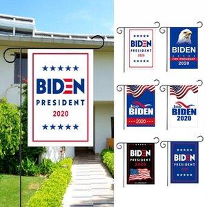 2020 Drapeaux Biden Jardin Président américain double face Décoration extérieure haut de gamme Tissu Jardin Pelouse Bannière DDA223
