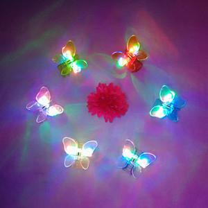Клип светодиодные бабочка узел заколки для волос игрушки Светодиодный проблесковый Оголовье Дети Взрослые Light Up Аксессуары для волос для вечеринок Подарки Заколка украшения
